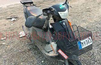Motosiklete çarpıp kaçan sürücü, polisten kaçamadı!