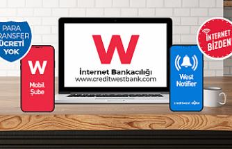 Creditwest Bank, şubeye gelmeden tüm hizmetlerini ATM ve dijital ortamda sunuyor