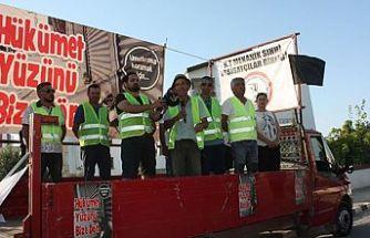 Girne'den başlatılan yürüyüşü Başbakanlık önünde tamamladı
