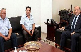 Tatar Alioğlu ve Şanlıdağ'ı kabul etti