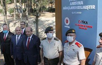Türkiye'deki 15 Temmuz darbe girişiminde hayatını kaybedenler Boğaz Şehitliği'nde anıldı