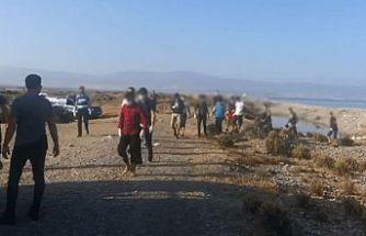 Yayla sahilinde düzensiz göçmen