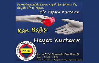 KKTC Fenerbahçeliler Derneği'nden kan bağışı kampanyası