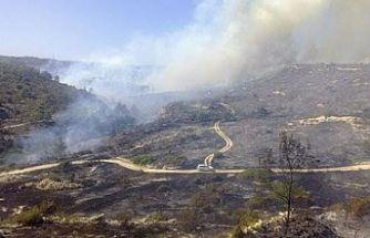 Limasol-Baf sınırında çıkan yangın kontrol altına alınamıyor