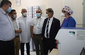Pilli Gazimağusa Devlet Hastanesi'nde incelemelerde bulundu
