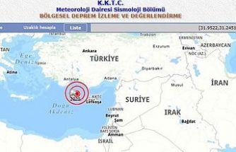 Kıbrıs'ın kuzeybatısında deprem!