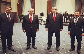 Tatar, Erdoğan ve MHP Milletvekili Erbaş, Cumhurbaşkanlığı Külliyesi'nde buluştu