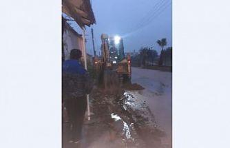Bafra'da evleri su bastı