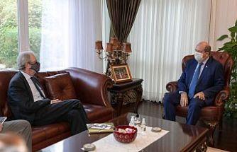 Cumhurbaşkanı Ersin Tatar, İsveç'in Lefkoşa Büyükelçisi Anders Hagelberg'i kabul etti