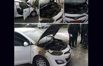 Lefkoşa'da araç yangını!