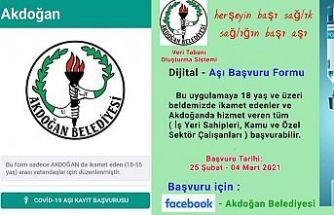 """Akdoğan Belediyesi """"Dijital Aşı Kayıt Form"""" uygulamasını hayata geçirdi"""