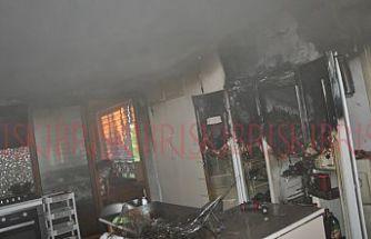 Buzdolabındaki kısa devre  yangına sebep oldu