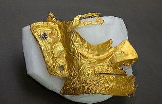 Çin'de 3 bin yıllık altın maske bulundu