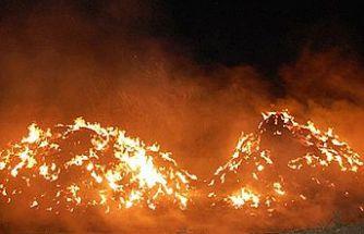 Çayönü'nde yangın
