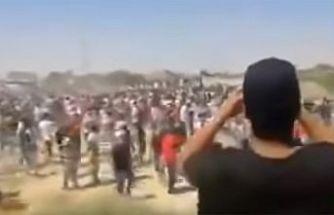 Binlerce Ürdün yurttaşı sınırı aşarak Filistin'e yardıma koştu