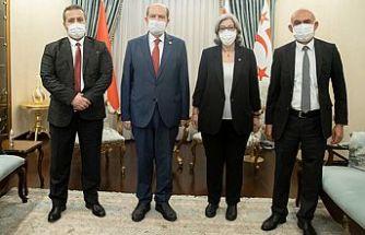Cumhurbaşkanı Tatar, Şefik, Altıncık ve Türker ile görüştü