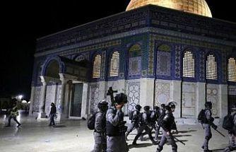 Mescid-i Aksa Doğu Kudüs'teki olaylarda 200'ü aşkın Filistinli yaralandı