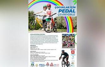 Bisikletçiler çocuklar için pedal çevirecek