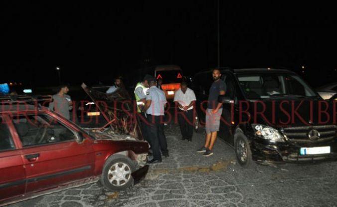 2 araç çarpıştı, 1 kişi yaralandı