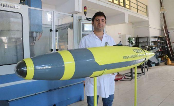 Türkiye'de geliştirilen yangın söndürme bombası seri üretim aşamasına geldi