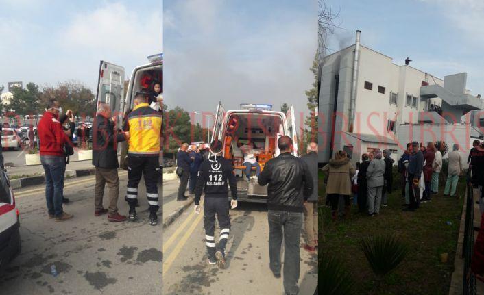 Yangın kontrol altına alınamadı tahliye devam ediyor